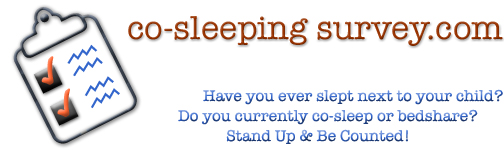 co-sleeping survey.com, Have you ever slept next to your child? Do you currently co-sleep or bed share? Stand up and be counted.